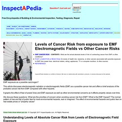 Levels of Cancer Risk from exposure to EMF Electromagnetic Fields vs Other Cancer Risks