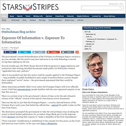 Exposure Of Information v. Exposure To Information - Ombudsman