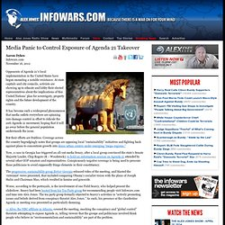 » Media Panic to Control Exposure of Agenda 21 Takeover Alex Jones