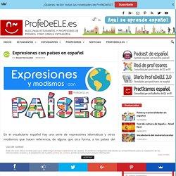 Expresiones con países en español