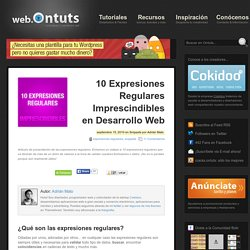 10 Expresiones Regulares Imprescindibles en Desarrollo Web
