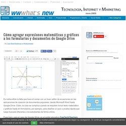 Cómo agregar expresiones matemáticas y gráficos a los formularios y documentos de Google Drive