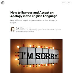 How to Express and Accept an Apology in the English Language
