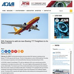 DHL Express to add six new Boeing 777 freighters to its fleet in 2020