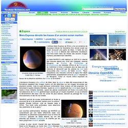 Mars Express dévoile les traces d'un ancien océan martien