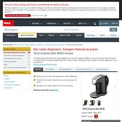 Full Specification - Tefal Express Boil BR40 - Hot water dispenser reviews - Kitchen