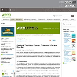 Express 10.19 - Feedback That Feeds Forward Empowers a Growth Mind-Set