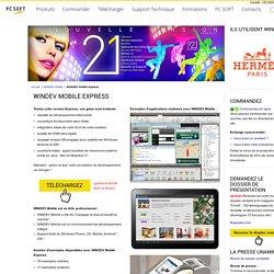 WINDEV Mobile Express : Gratuit et Illimité