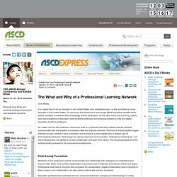 Express 8.09 - The What and Why of a Professional Learning Network