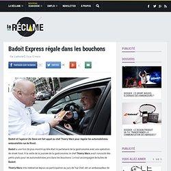 Pub Badoit Express 2013 : Thierry Marx, bouchons