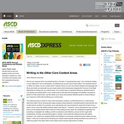 Express 9.14 - Writing in the <i>Other</i> Core Content Areas