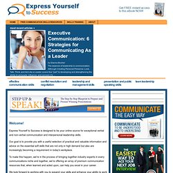 Communciation skills, public speaking, conflict resolution and negotiating: express yourself