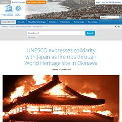 expresses solidarity with Japan as fire rips through World Heritage site in Okinawa