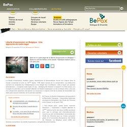 BePax - Liberté d'expression en Belgique : Une approche du cadre légal
