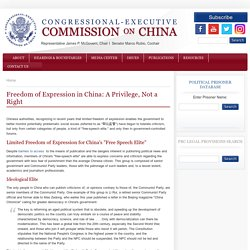 Freedom of Expression in China: A Privilege, Not a Right