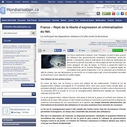 France – Rejet de la liberté d'expression et criminalisation du Net.