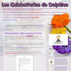 Les quichotteries de Delphine: expression écrite (EE)