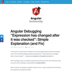 """Angular Debugging """"Expression has changed"""": Explanation (and Fix)"""