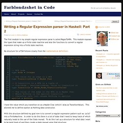 Haskell - Writing a Regular Expression parser in Haskell: Part 2 - Matthew Manela - Farblondzshet in Code