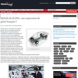 Hybrid Air de PSA : une expression du génie français ? sur le blog Motorlegend Motorshift