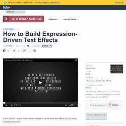 Driven text