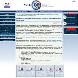 EBIOS 2010 - Expression des Besoins et Identification des Objectifs de Sécurité