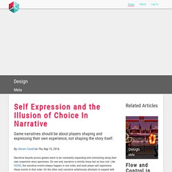 TGA - Self Expression and the Illusion of Choice In Narrative