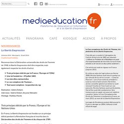 La liberté d'expression - mediaeducation.fr