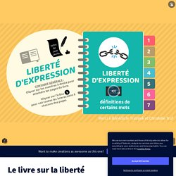 Le livre sur la liberté d'expression par mmecaillot sur Genially