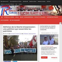 Défense de la liberté d'expression : une pétition qui rassemble les patriotes