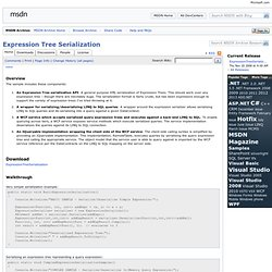 Expression Tree Serialization