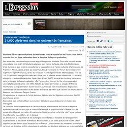 21.000 Algériens dans les universités françaises