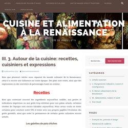Autour de la cuisine: recettes, cuisiniers et expressions – Cuisine et alimentation à la Renaissance