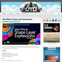 After Effects: Shape Layer Expressions - ChurchMediaDesign.tv