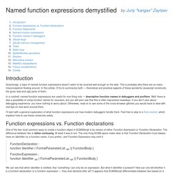Named function expressions demystified