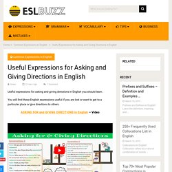How to Ask for & Give Directions in English