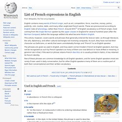 List of French expressions in English