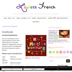French Expressions of Gratitude - Lawless French