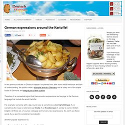 German expressions around the Kartoffel - Deutsch HappenDeutsch Happen