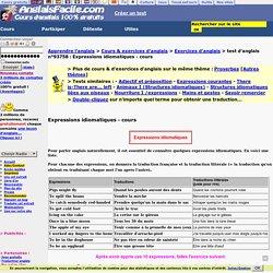 Expressions idiomatiques-anglais
