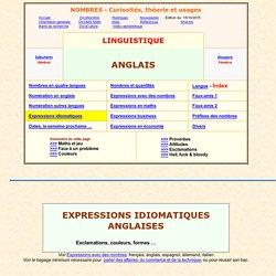 expressions idiomatiques en anglais