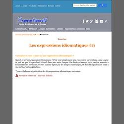 Q.C.M. : Les expressions idiomatiques (1)