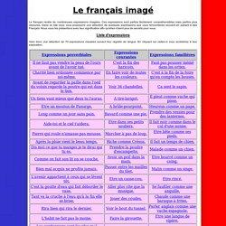 Expressions imagées du français