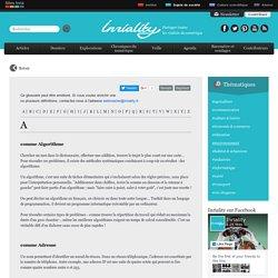 Expressions ou mots-clés liés à l'information numérique : le glossaire