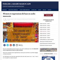 Parler l'arabe marocain