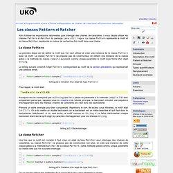 Expressions rationnelles : Les classes Pattern et Matcher