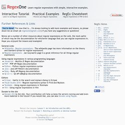 Learn REGEX - RegExOne LINKS