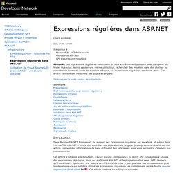 RegExp ASP.NET