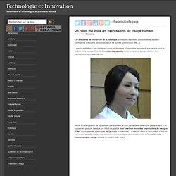 Un robot qui imite les expressions du visage humain