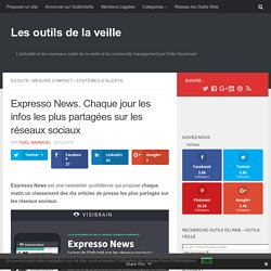 Expresso News. Chaque jour les infos les plus partagées sur les réseaux sociaux – Les outils de la veille
